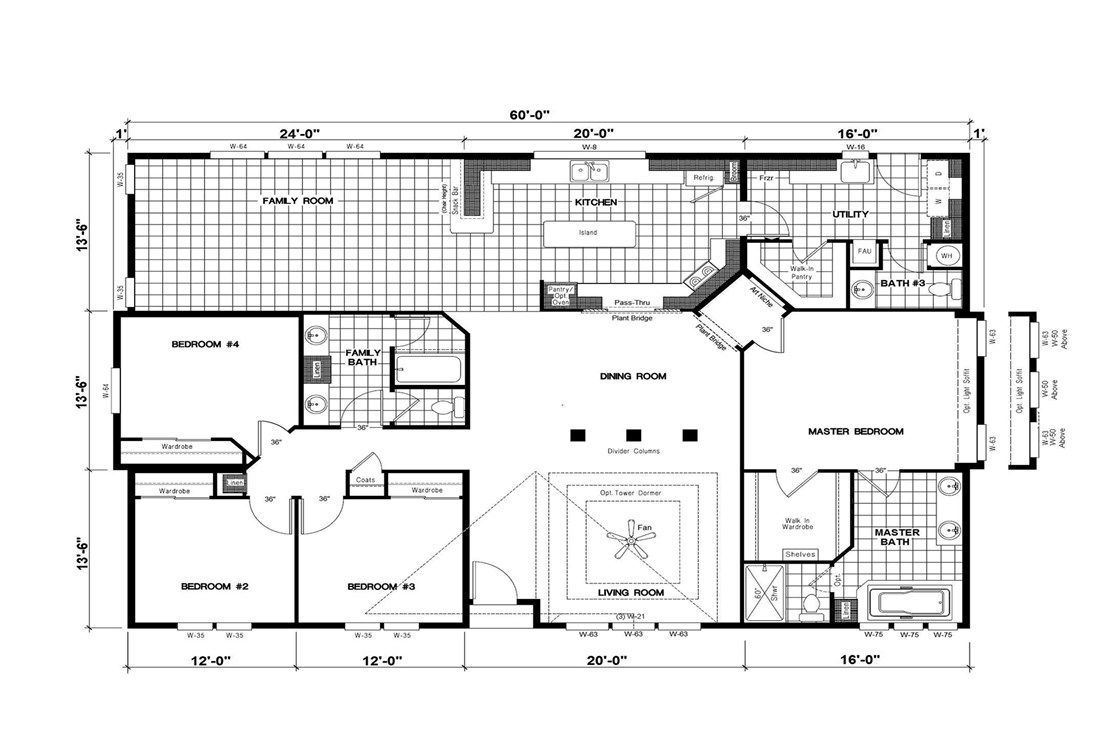 The GSP605K PLATINUM SERIES     GW Floor Plan