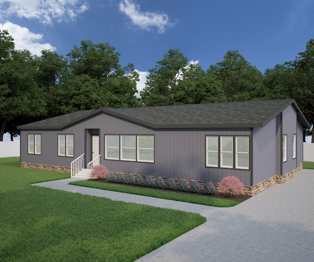 The GSP605K PLATINUM SERIES Exterior. This Manufactured Mobile Home features 4 bedrooms and 3 baths.