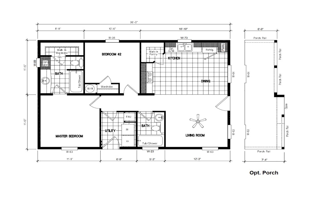 The ING361A ACORN        (FULL) GW Floor Plan