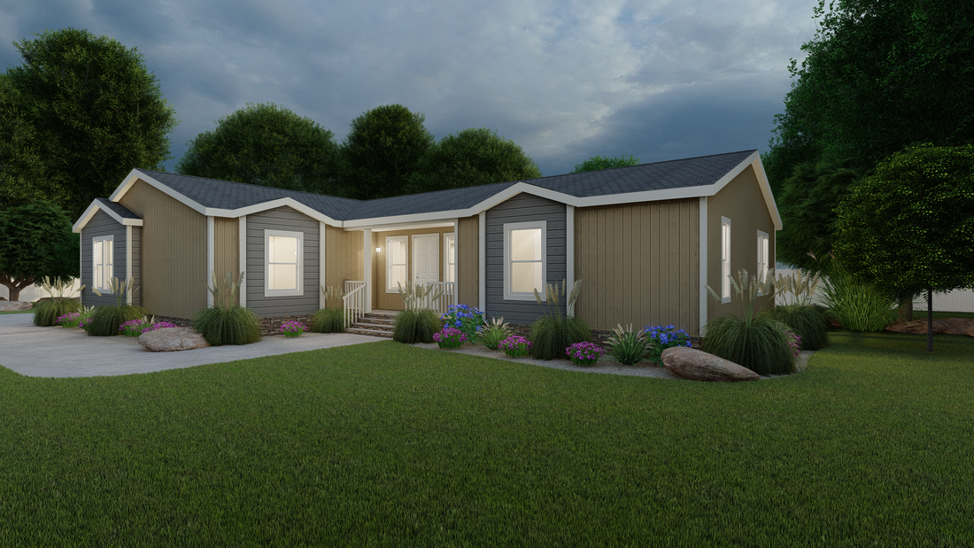 The ING621K TAMARACK     (FULL) GW Exterior. This Manufactured Mobile Home features 3 bedrooms and 2 baths.